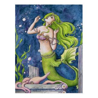 Meerjungfrau Postkarte