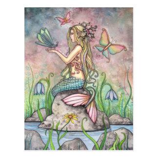 Meerjungfrau-Postkarte Creekside Magie
