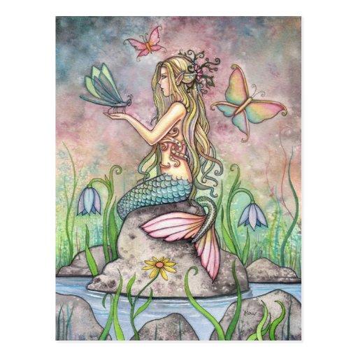 Meerjungfrau-Postkarte, Creekside Magie