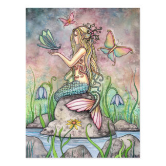 Meerjungfrau-Postkarte, Creekside Magie Postkarten