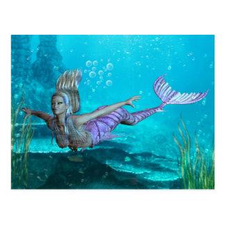 Meerjungfrau-Postkarte - Fantasie-Meerjungfrau Postkarte