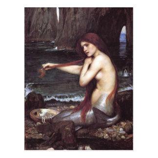 Meerjungfrau-Postkarte Postkarte