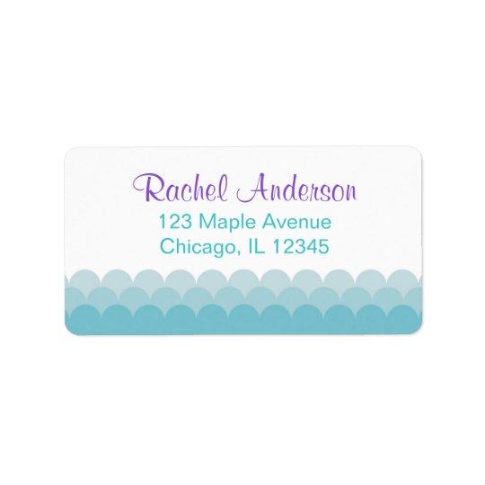 Meerjungfrau-Rücksendeadressen-Aufkleber, Adress Aufkleber