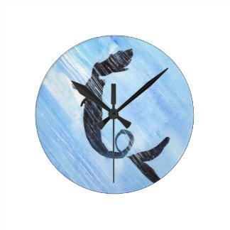 Meerjungfrau Runde Wanduhr