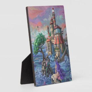 Meerjungfrau-Schloss Fotoplatte
