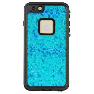 Meerjungfrau-Skala-blaues veganes Neonleder LifeProof FRÄ' iPhone 6/6s Plus Hülle