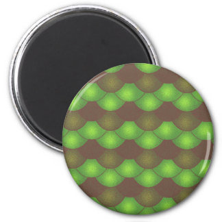 Meerjungfrau-Skalen - giftiger Schmutz Runder Magnet 5,1 Cm