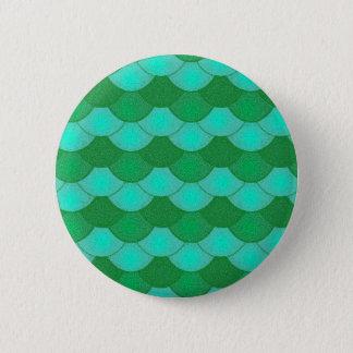 Meerjungfrau-Skalen - Grün Runder Button 5,7 Cm
