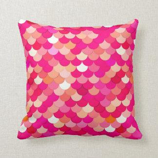 Meerjungfrau-Skalen, Koralle, pinkfarbenes Rosa Kissen