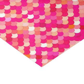 Meerjungfrau-Skalen, Koralle, pinkfarbenes Rosa Seidenpapier