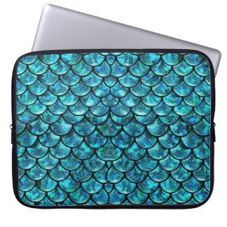 Meerjungfrau-Skalen - Türkis-Blau Laptopschutzhülle