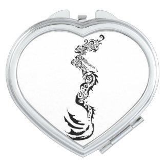 Meerjungfrau Stammes- Taschenspiegel