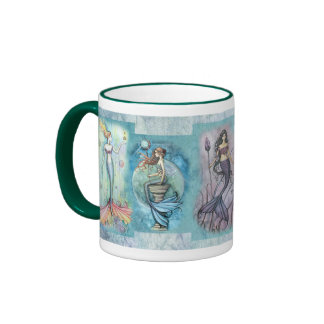 Meerjungfrau-Tasse durch Molly Harrison Ringer Tasse
