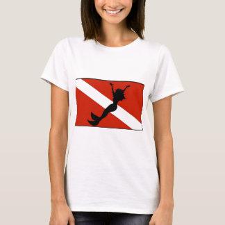 Meerjungfrau-Taucher-Flagge T-Shirt
