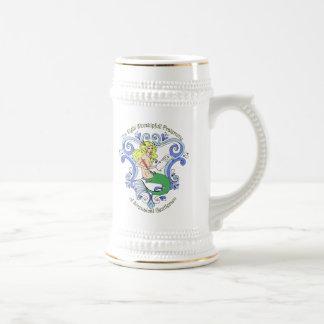 Meerjungfrau-Taverne (Farbe) Bierglas