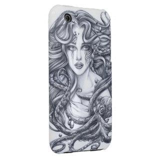 Meerjungfrau u. ihre Krake Case-Mate iPhone 3 Hüllen