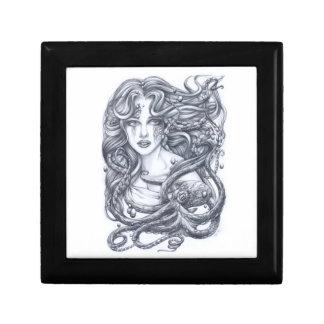 Meerjungfrau u ihre Krake Erinnerungskiste