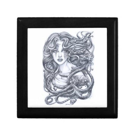 Meerjungfrau u. ihre Krake Erinnerungskiste