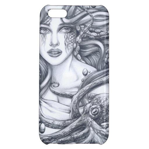 Meerjungfrau u. ihre Krake iPhone 5C Cover