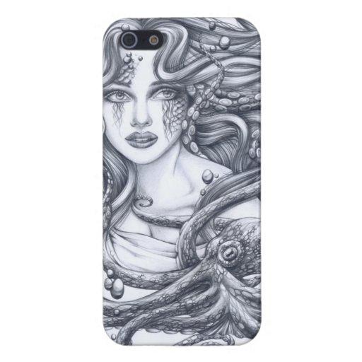Meerjungfrau u. ihre Krake iPhone 5 Cover