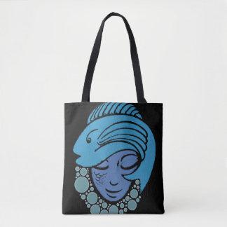 Meerjungfrau und blaue Fisch-Taschen-Tasche Tasche