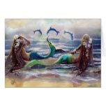 Meerjungfrau-und Delphin-Karte