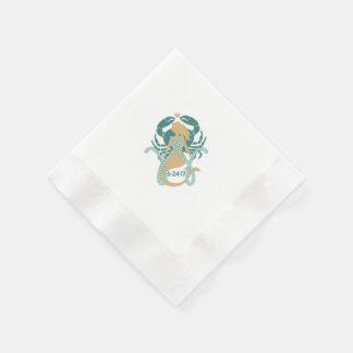 Meerjungfrau- und Meereswelt-Cocktailservietten Papierserviette