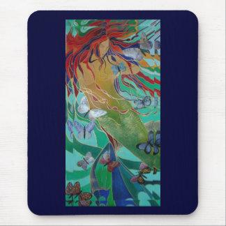 Meerjungfrau und Schmetterlinge Mousepad