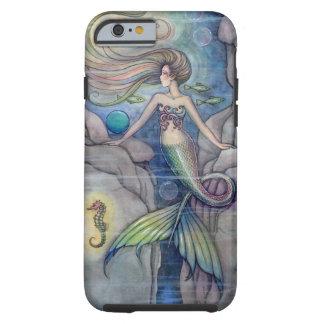 Meerjungfrau-und Seepferd-Fantasie-Kunst durch Tough iPhone 6 Hülle