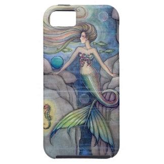 Meerjungfrau-und Seepferd-Fantasie-Kunst durch iPhone 5 Etui