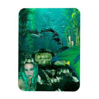Meerjungfrau-Unterwasserschatz-Foto-Magnet Magnet