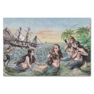 Meerjungfrau-Vintages antikes magisches See Seidenpapier