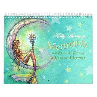 Meerjungfrau-Wandkalender durch Molly Harrison Wandkalender