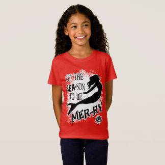 Meerjungfrau-Weihnachten T-Shirt