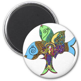 Meerjungfrau Zenscrawl Runder Magnet 5,1 Cm