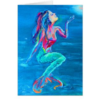 Meerjungfrauanmerkungskarte Karte