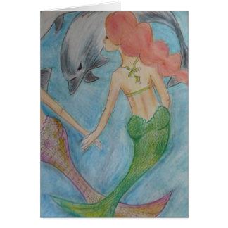 Meerjungfrauen und Delphine Karte