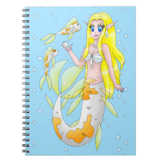 Meerjungfraunotizbuch Notizblock