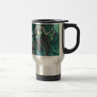 Meerjungfrauunicorn-Ozean-Seeaquamarines Grün Reisebecher