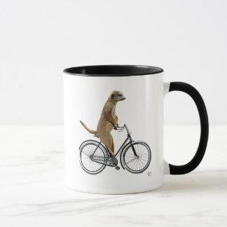 Meerkat auf Fahrrad Tasse