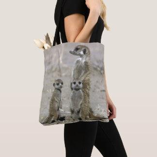 Meerkat Baby-Modell und Welpen (SuricataSuricata) Tasche