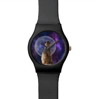 Meerkat im Mondschein, Damen kann aufpassen Uhr