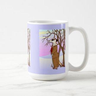 Meerkat im Schnee Kaffeetasse