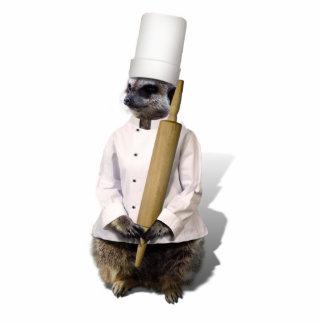 Meerkat Koch mit Rollen-Button Freistehende Fotoskulptur