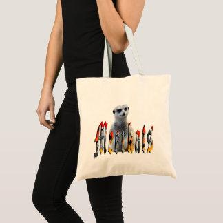 Meerkat mit Meerkats Logo, Tragetasche