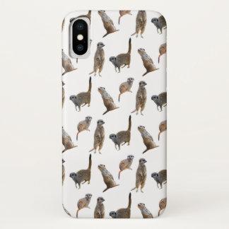 Meerkat Raserei iPhone X Fall (wählen Sie Farbe) iPhone X Hülle