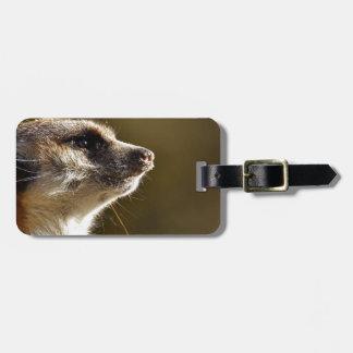 Meerkat Tiernatur-Zoo Tiergarten kleiner Pelz Kofferanhänger