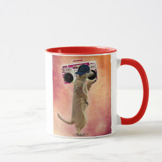 Meerkat und Ghettoblaster Tasse
