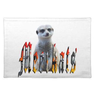 Meerkat und Meerkats Bild-Logo, Stofftischset