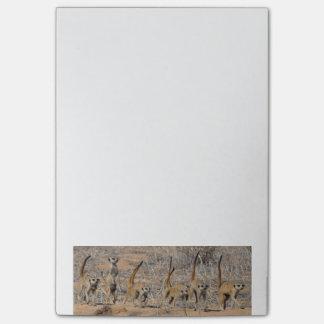 Meerkat wardance - Post-Itanmerkungen Post-it Klebezettel